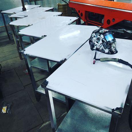 Металлический стол,нержавейка,для тесто,под печку,для кухни.