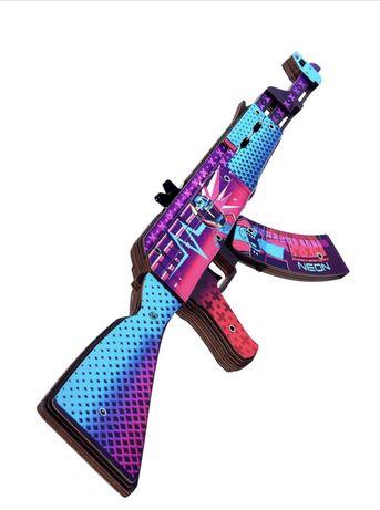 CS GO Деревянный автомат АК-47 Скоростной Зверь резинкострел