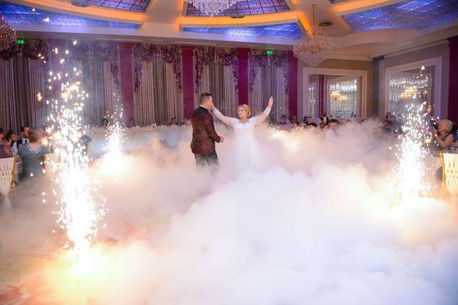 Gheata carbonica si artificii pentru o nunta de vis