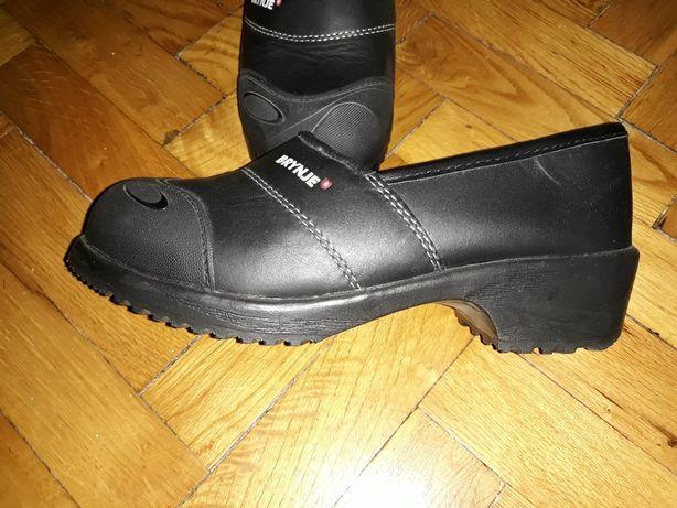 Pantofi incaltaminte dama lucru piele bombeu metalic Noi 38