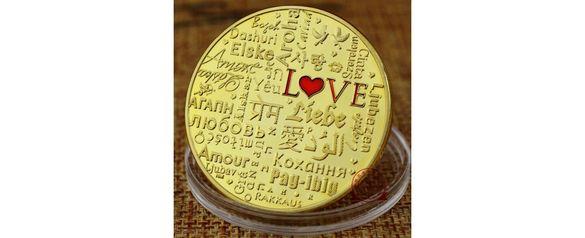 Монета LOVE - език на любовта