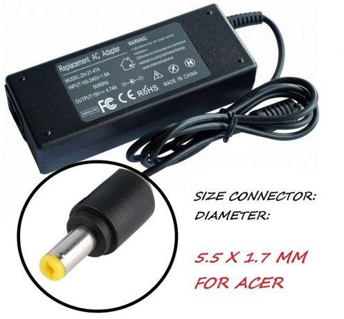 Зарядно за лаптоп 220V-90W /19V 5.5mm X 1.7mm. Модел ZH-JDCC. За ACER.