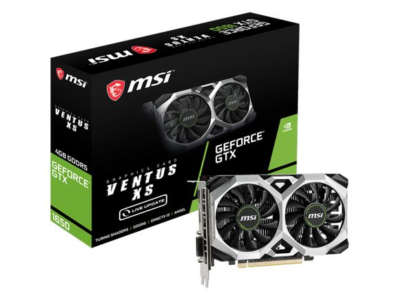 Видео карта NVIDIA® GeForce® GTX 1650 VENTUS XS 4G GDDR5 128-bit
