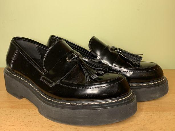 Pantofi OVYE Made in Italy, numarul 39, negrii