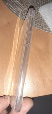 Husa samsung a20e silicon negru plus față spate silicon transparent
