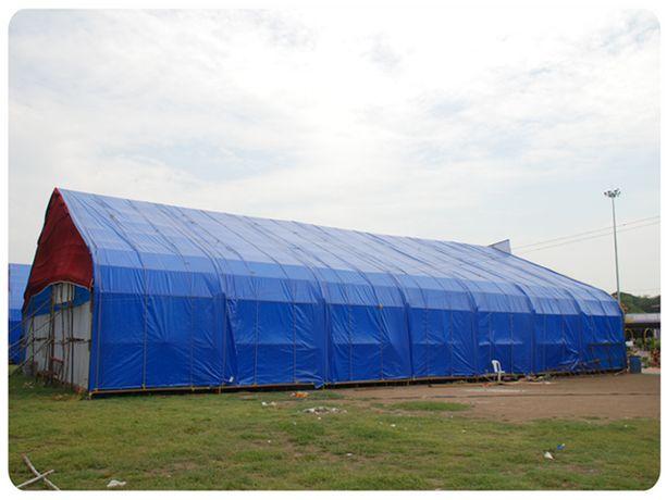 Prelata impermeabila cu inele 90 gr/mp dimensiune 6 x 8 m, albastra