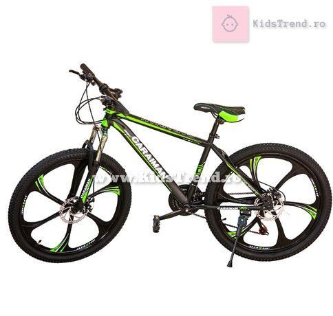 Bicicleta 26 inch, MTB frane pe disc, aluminiu, suspensie, shimano
