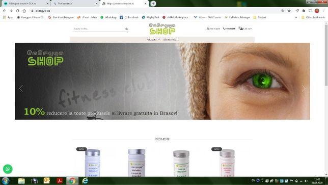 Magazin online - energym.ro - afacere in desfasurare platforma Gomag
