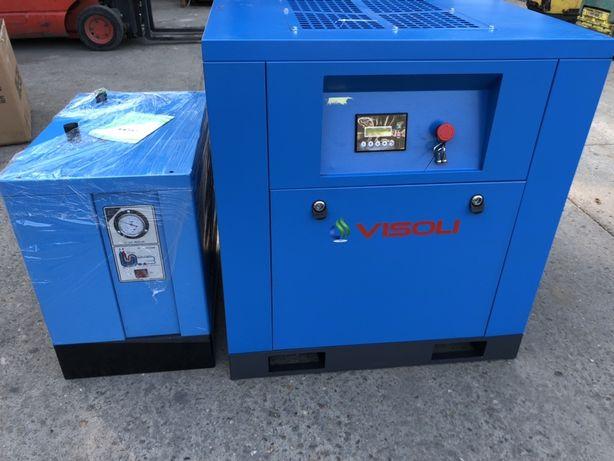 Compresor surub 15kw Visoli +Uscator--NOU-14800