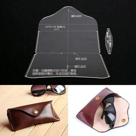 шаблон за шиене на калъф за слънчеви очила, кожарска, сарашка кройка
