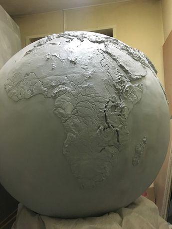 Глобус огромный с 3d рельефом