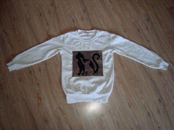 Страхотни Бляскави Блузки с котенца р-р 134