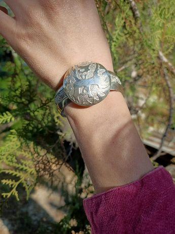 Серебро браслет и кулон
