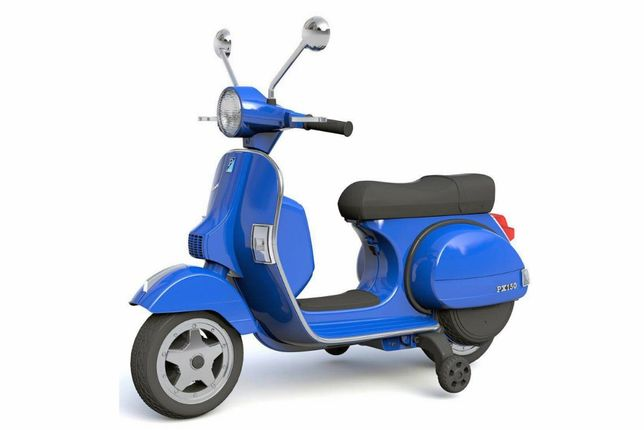 Scuter electric pentru copii Piaggio PX150 PREMIUM #Albastru