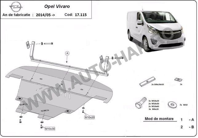 Scut motor metalic Opel Vivaro 2014-prezent