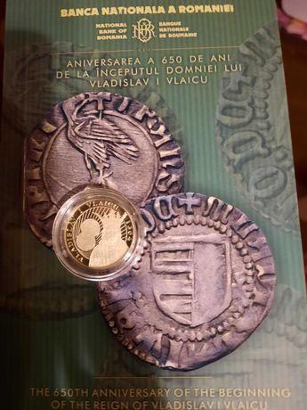 Moneda aur BNR 650 de ani  începutul domniei lui Vladislav I Vlaicu