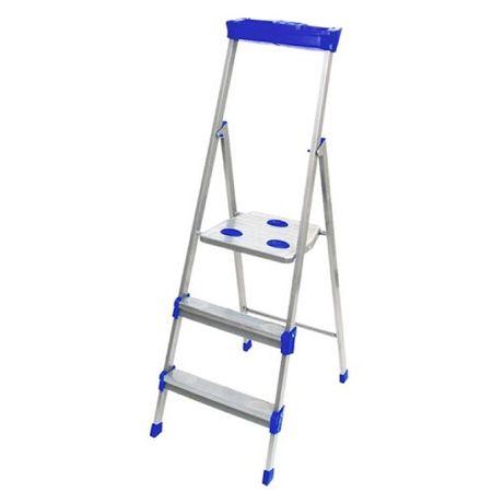 Лестница - стремянка металлическая СМ 3, 4, 5, 6, 7, 8 ступени Nika