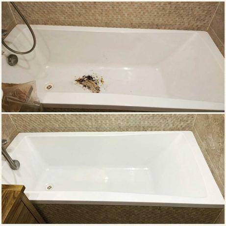 Реставрация ванн чугунных, акриловых ванн, поддонов, раковин, джакузи