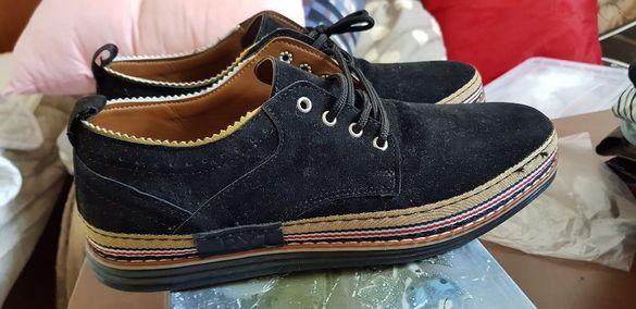 Велурени спортно-елегантни обувки
