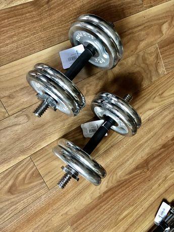 Set Super Gantere reglabile profesionale noi 14+14=28 kg  pret 380 ron