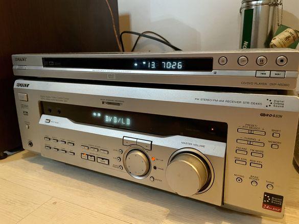 Ресийвър Sony STR DE445 + DVD Sony DVP NS 360 + дистанционни !