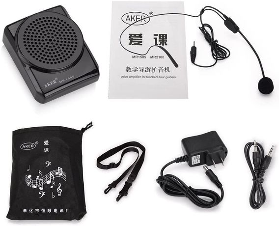 VoiceBooster Voice Amplifier 12watts Black MR1505 (Aker) by TK Product