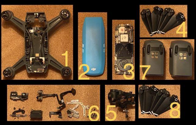 Piese Dji Spark carcasa capac albastru motoare baterii ghimbal camera