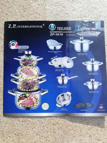 Нов комплект съдове за готвене Z.P.International, модел ZP-1618
