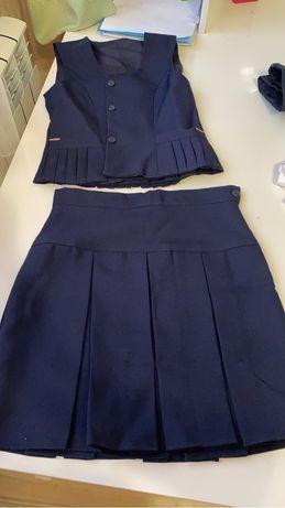Школьная форма , юбки, жилет, рубашка