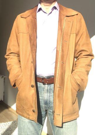 Geaca jacheta piele Camel originala