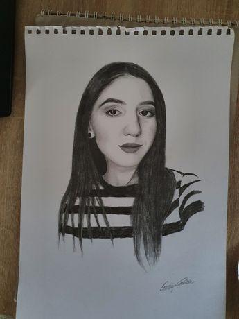 Portrete realistice in creion