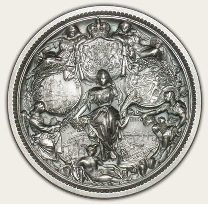 Medalie Romania 25 de ani de domnie a regelui Carol I
