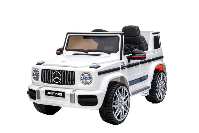 Masinuta electrica Kinderauto Mercedes G63 AMG 2x25W STANDARD #Alb