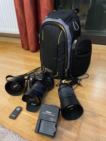 Nikon D5300 + obiective 16-85 ; 55-200 si 50 mm