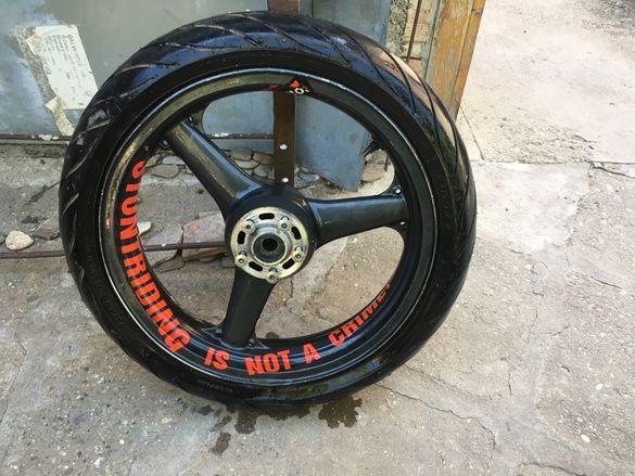 Джанта с гума! Kawasaki zx6r