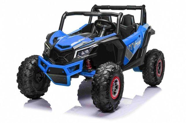 Masinuta electrica pentru copii Buggy UTV MX 24 Volti (613) Albastru