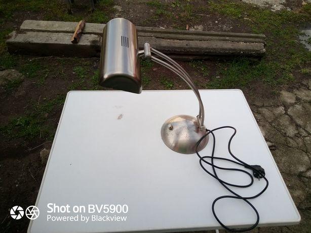Lampa birou vintage inox