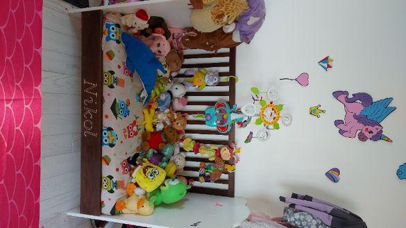 Детско легло за бебе с матрак и шалте