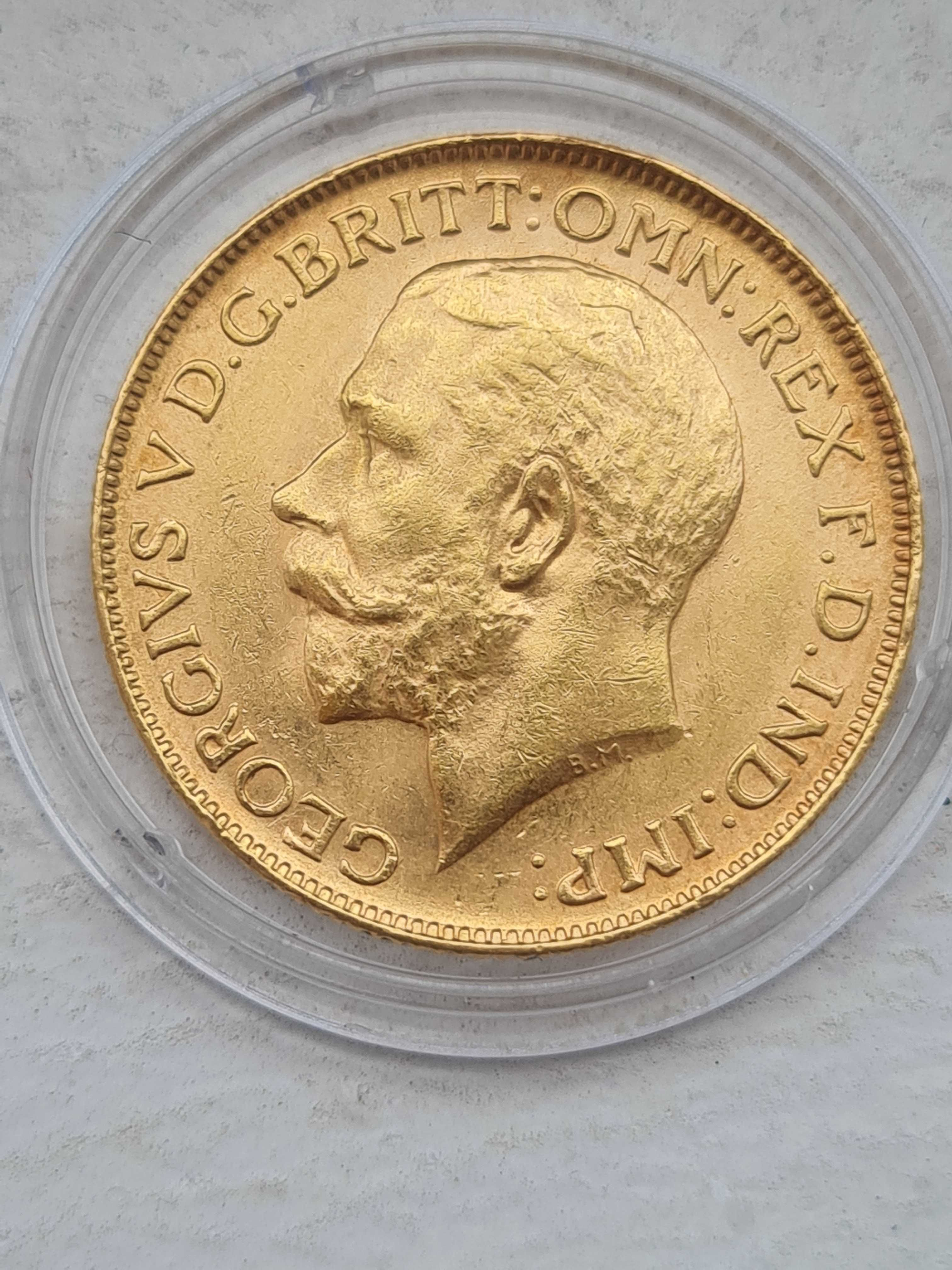 Златна монета Джордж V