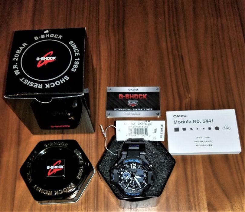 Ceas Casio G-Shock Gravitymaster GA1100-2B, busola, termometru