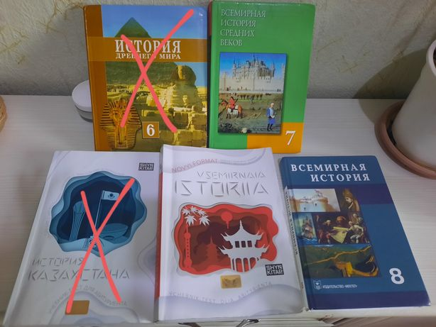 Продам Шын по ИК, Всемирной Истории, учебники 6,7,8 кл Всемирка
