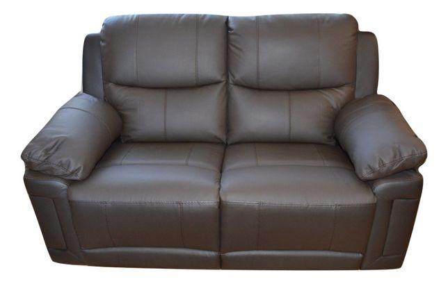 Vand canapea 2 locuri cu recliner electrice din piele maro
