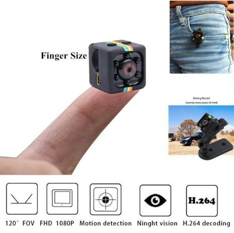 Мини камера, Шпионска скрита камера SQ11 Mini Full HD camera 1080p