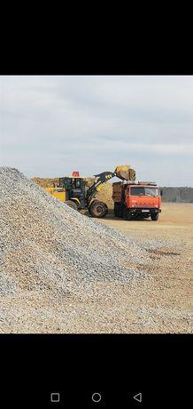 Доставка речного песка щебня Камаз