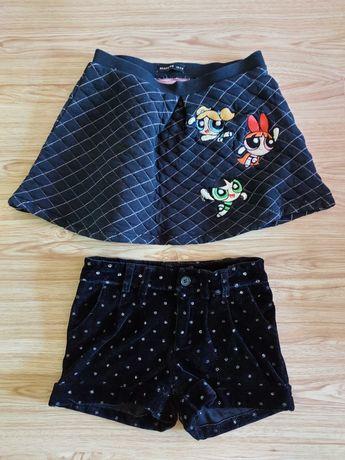 Клин чета, пола и къси панталони за момиченце на 5-6 год