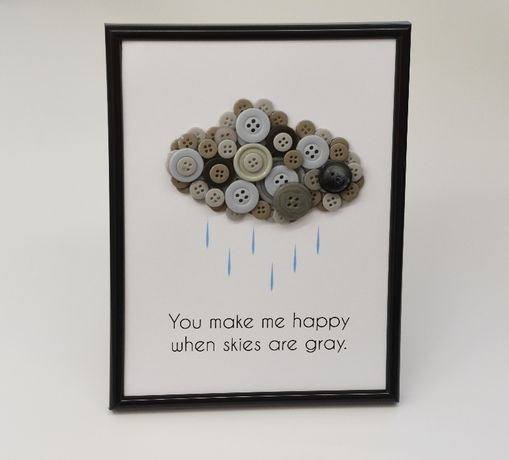 tablou cu mesaj haios amuzant sau romantic decorat cu nasturi