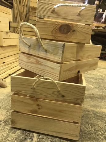 Големи декоративни дървени щайги ръчна изработка,различни модели
