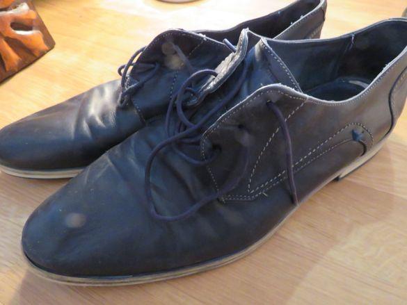 Италиански мъжки обувки от телешка кожа - VENTURINI - номер 44.