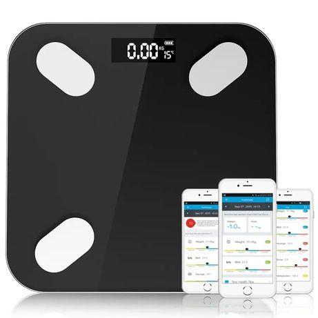 Умные весы напольные смарт smart для тела черные
