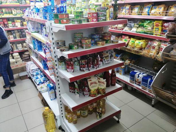 Стеллажи для магазина витрина полки конфетница хлебный корзина